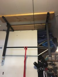 Garage Ceiling Mounted Pull Up Bar - Stud Bar - Ceiling or ...
