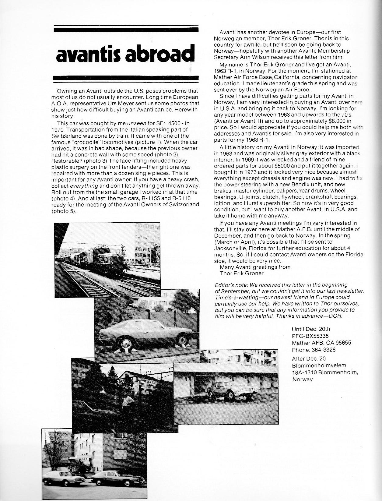 Bob S Studebaker Resource Website Studebaker Avantis R