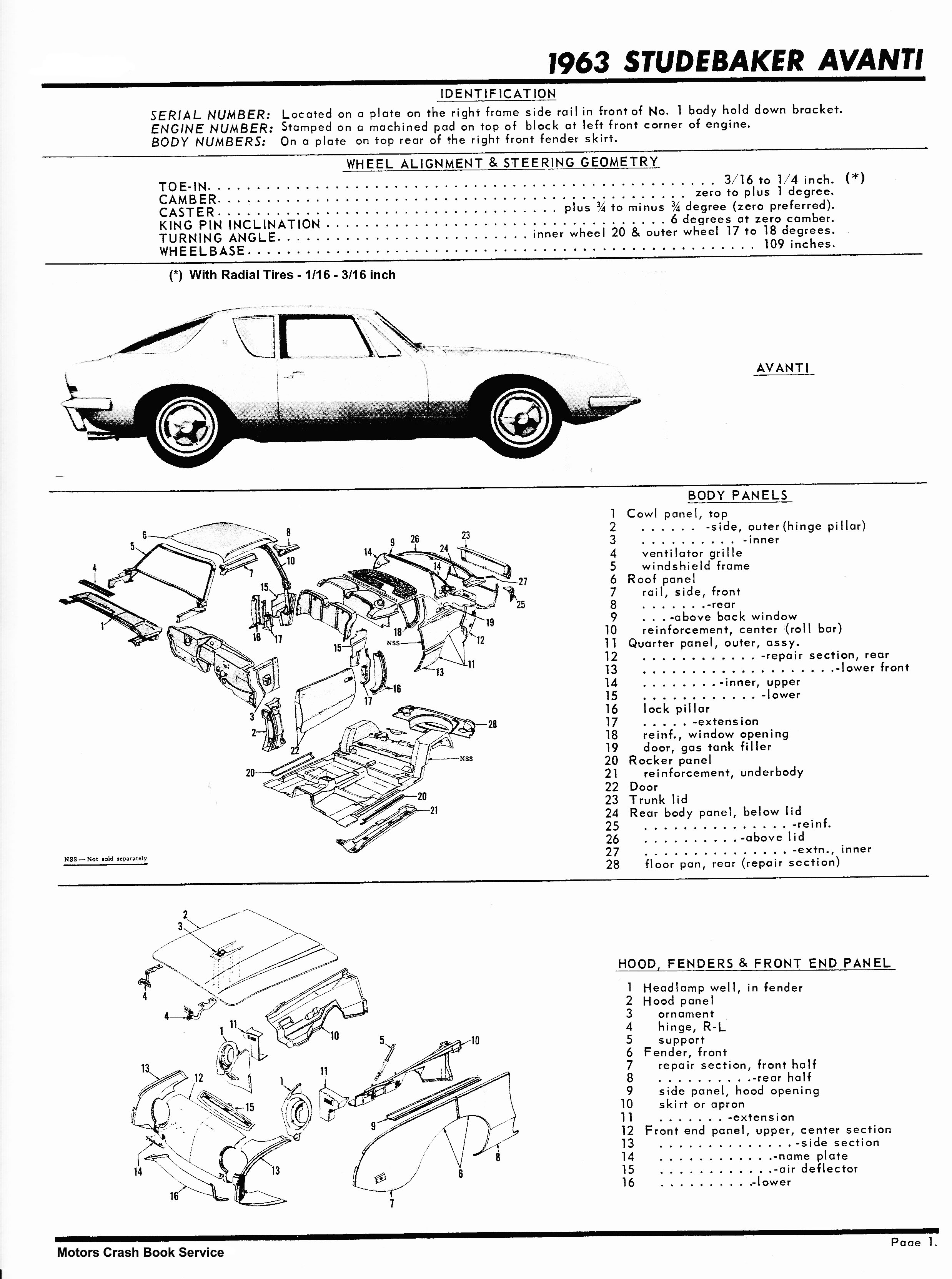 Bob Johnstones Studebaker Resource Website 63 64 Avanti