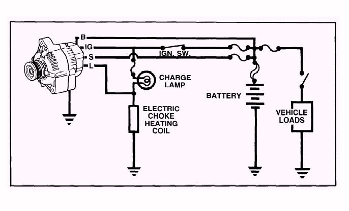 wiring diagram alternator toyota