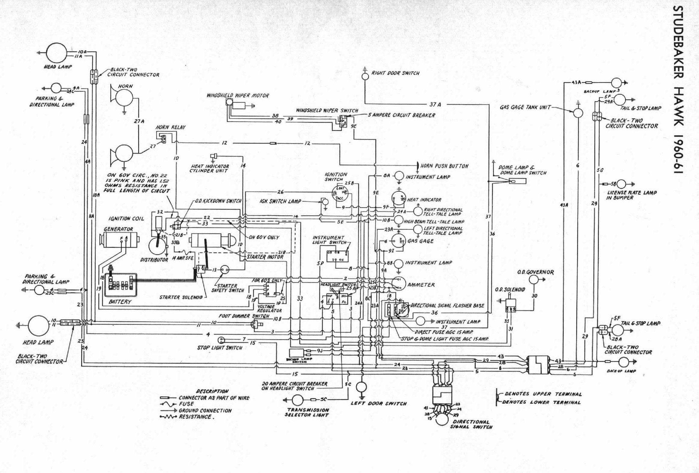 1960 Studebaker Wiring Diagram Auto Electrical Automotive Schematics 99 Honda Accord Ex 2 3l Ulev Bob Johnstones And Avanti Page 1979 Lincoln Continental Vacuum