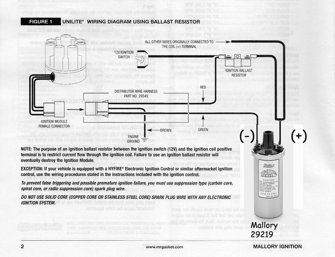 mallory distributor wiring diagram hydraulic pump motor ignition internal