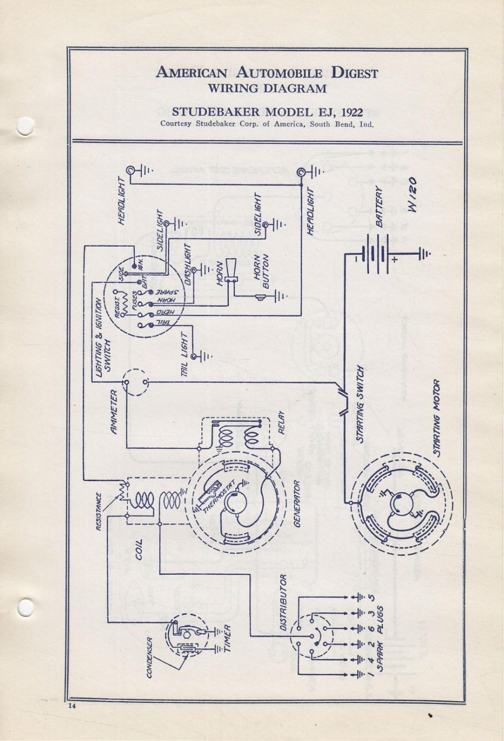 medium resolution of  bob johnstones studebaker resource website 1922 studebaker wiring on studebaker parts studebaker wiring harness