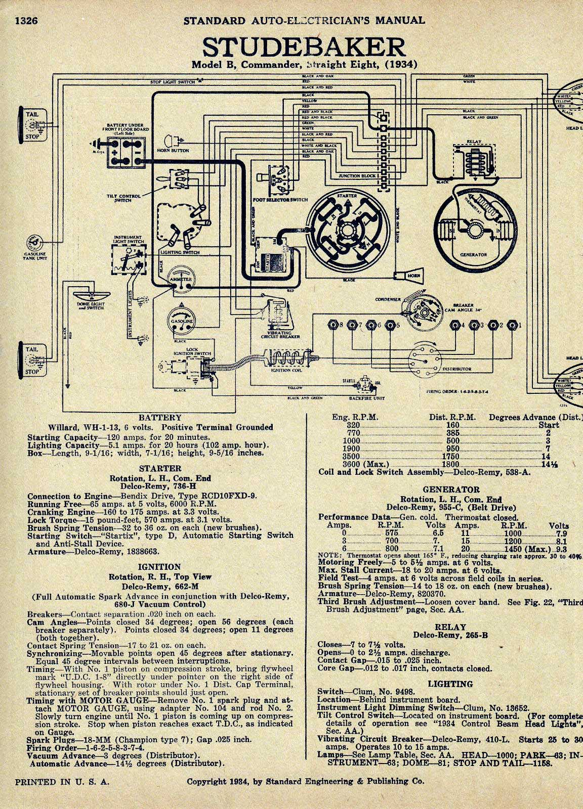 hight resolution of bob johnstones studebaker resource website old 1953 studebaker commander wiring diagram 1950 studebaker champion turn