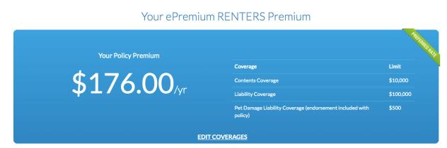 ePremium Renters Insurance Quotes