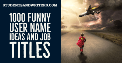 Read more about the article 1000 Funny User Name Ideas and Job Titles