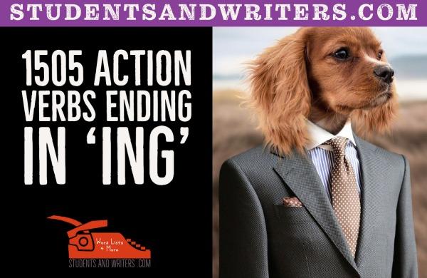 1505 action verbs ending in 'ING'
