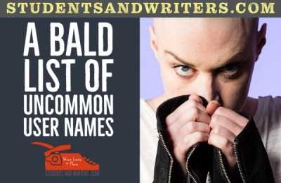 A Bald List of Uncommon User Names