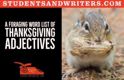 A foraging word list of Thanksgiving adjectives