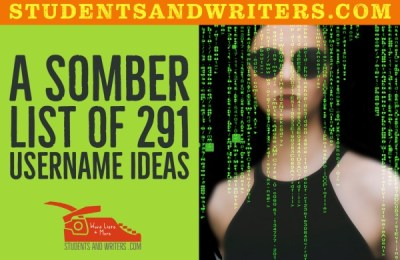 Read more about the article A somber list of 291 username ideas