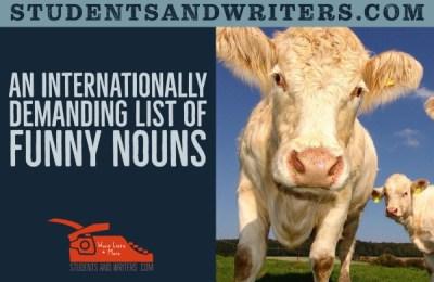 An Internationally Demanding List of Funny Nouns