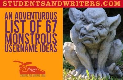 An adventurous list of 67 monsterous username ideas