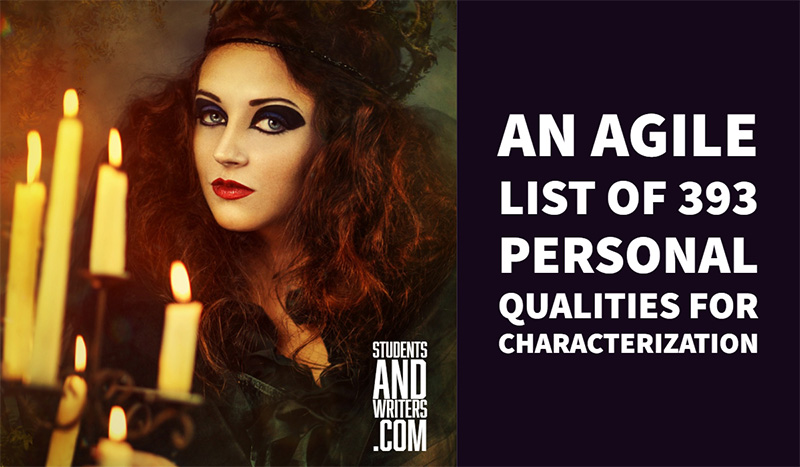 An agile list of 393 personal qualities for characterization