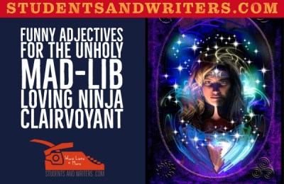 Read more about the article Funny Adjectives for the unholy mad-lib loving Ninja clairvoyant