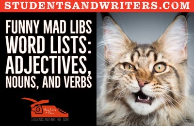 Read more about the article Funny Mad Libs Word Lists: Adjectives, Nouns, and Verbs with free posters
