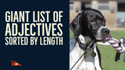 Read more about the article Giant list of adjectives sorted by length