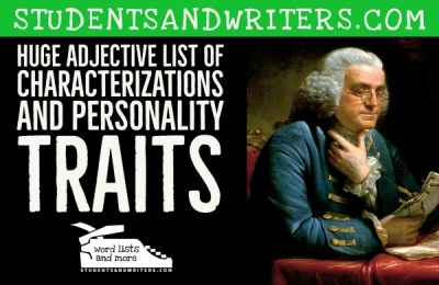 Read more about the article Huge Adjective List of Characterizations and Personality Traits