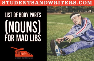 List of body parts (nouns) for Mad Libs