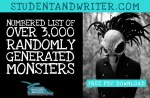 A Dangerous List of Randomly Generated Monster with Bonus Download