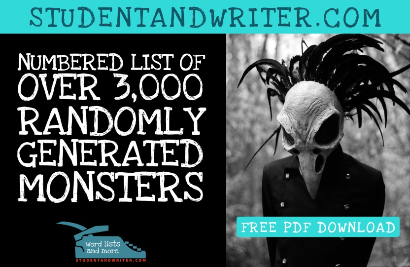 You are currently viewing A Dangerous List of Randomly Generated Monster with Bonus Download