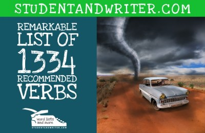 Read more about the article Remarkable list of 1334 recommended verbs
