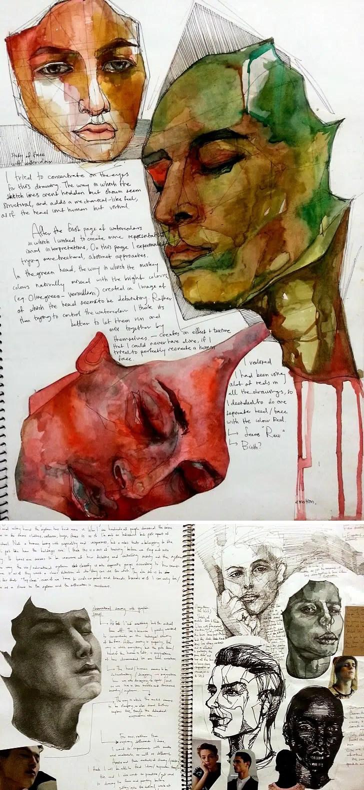 VCE Studio Arts folio by Heesu Kim