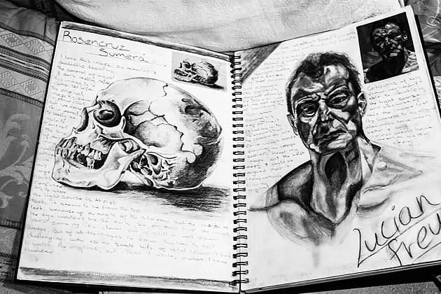 striking a level art sketchbook presentation