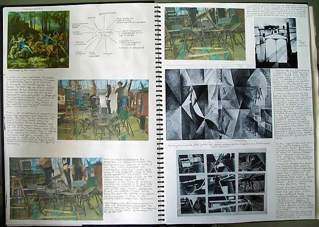 artist research - A Level Art sketchbook