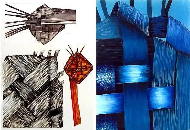 gcse art sketchbook page exploring natural forms