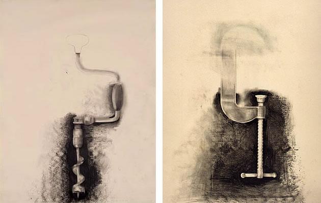 Jim Dine tool drawings
