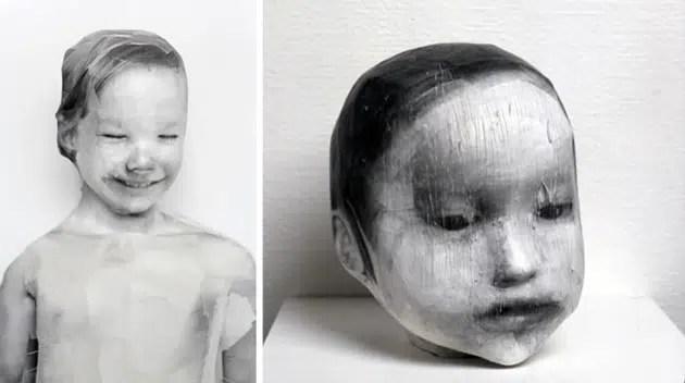 3D photography collage sculpture