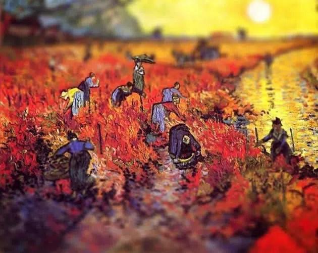 tilt shift van gogh paintings