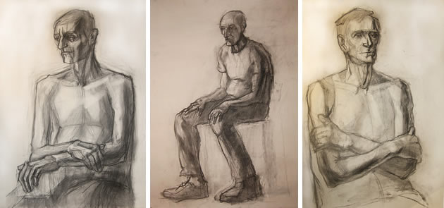 life drawing clothed figures