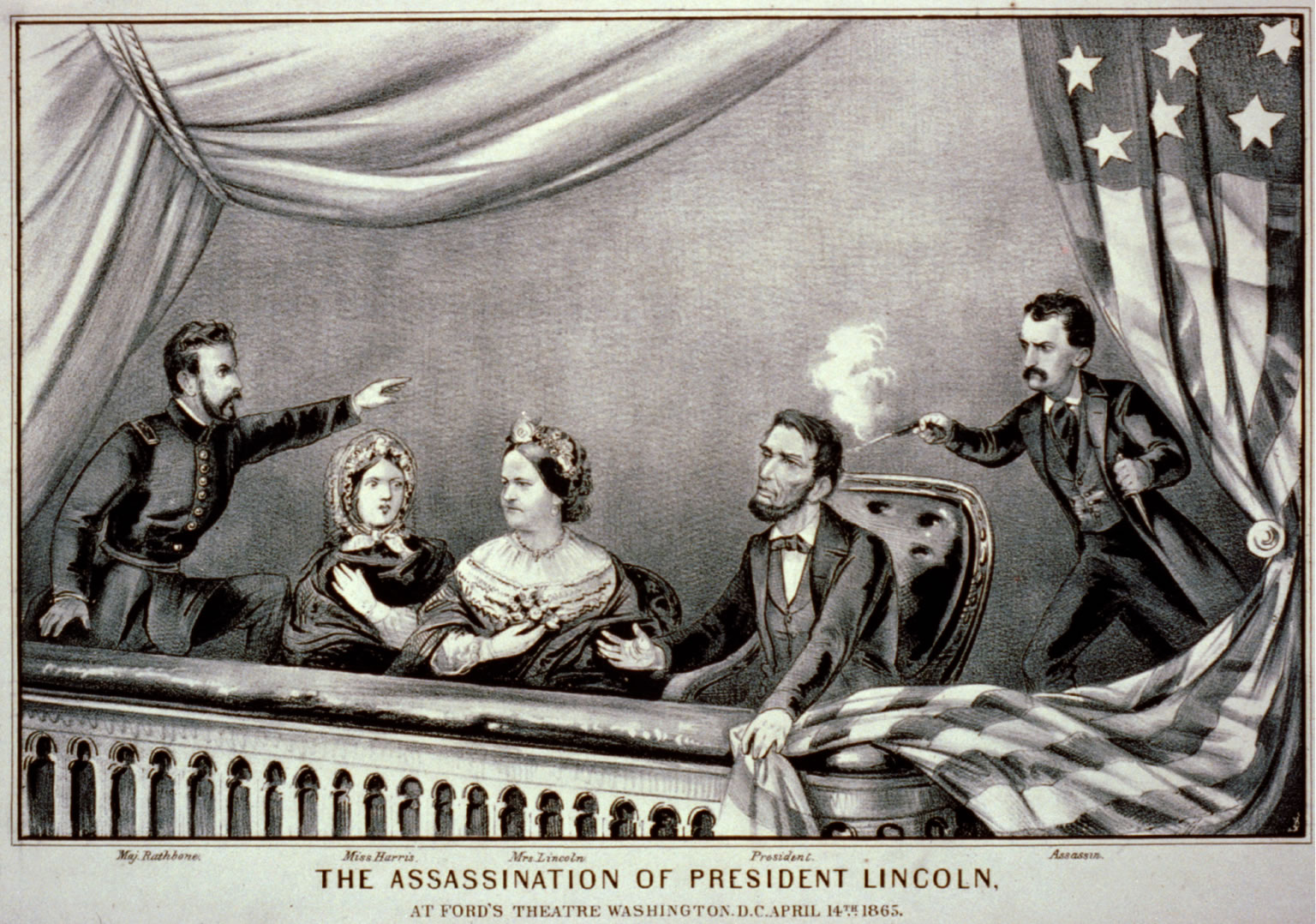 Currier Amp Ives Print Of Abraham Lincoln S Assassination
