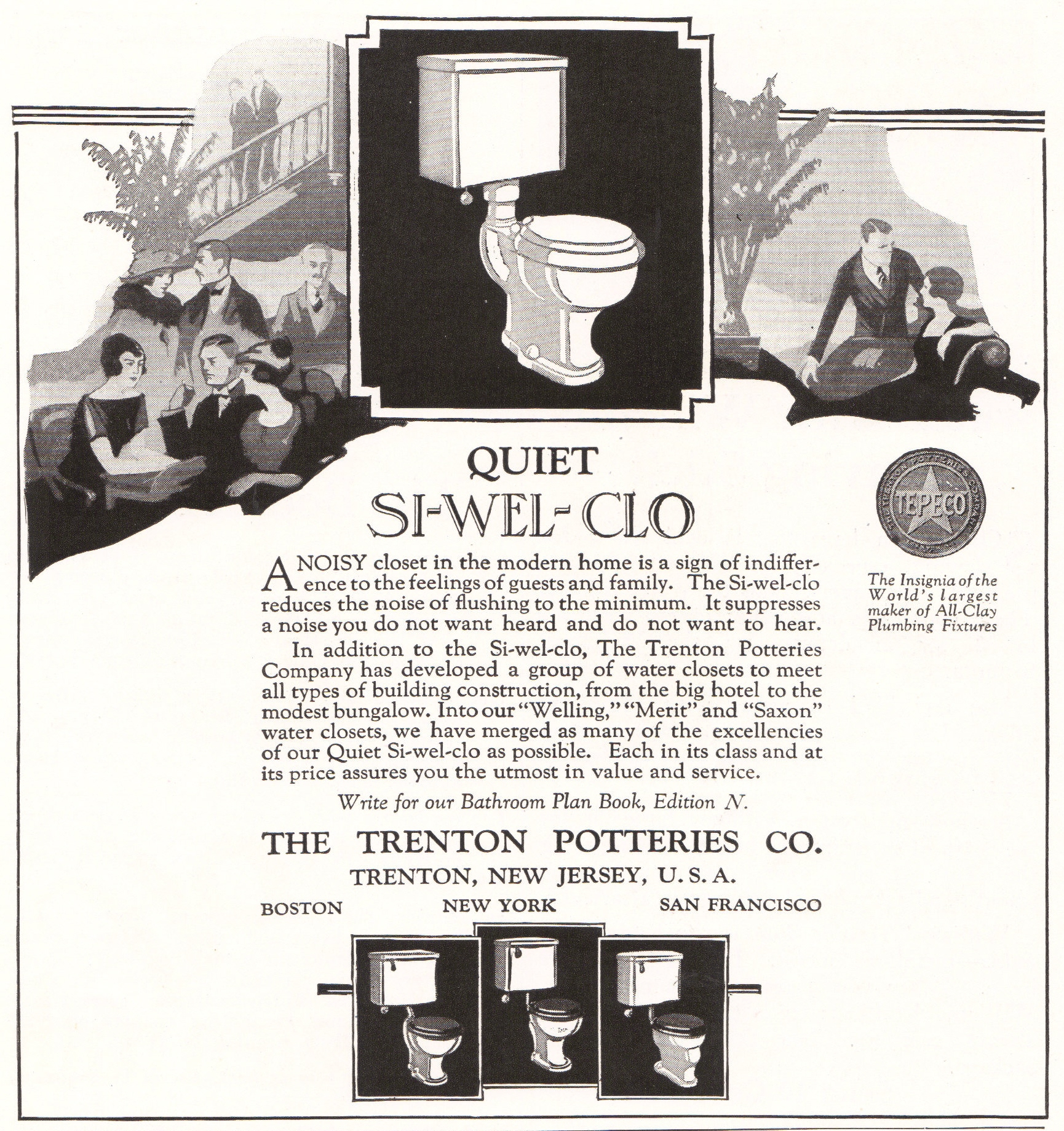 Si Wel Clo Toilet Bowl By Trenton Potteries
