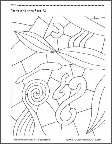 Abstract Coloring Page #2