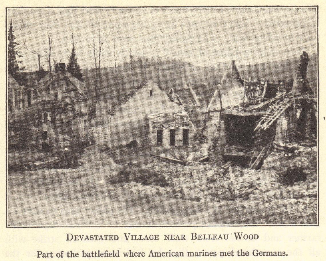Devastated Village Near Belleau Wood France Wwi
