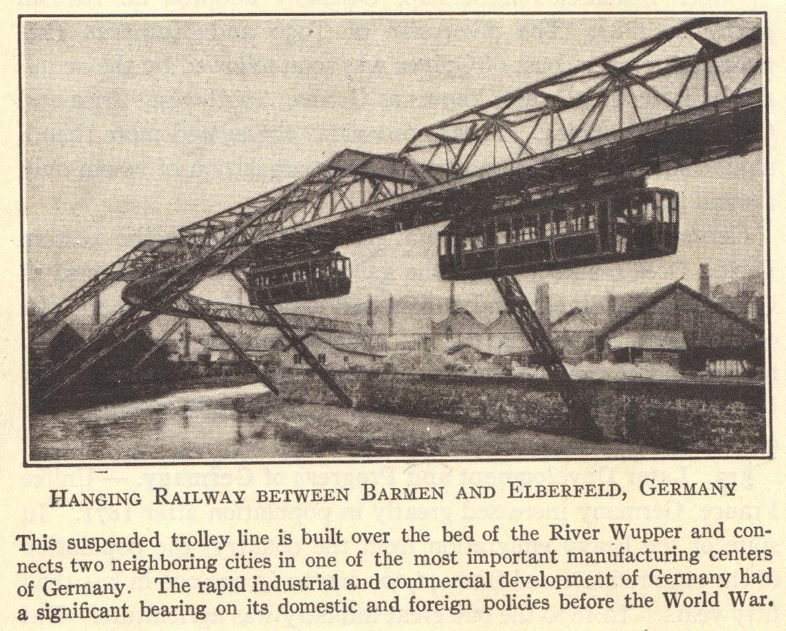 Hanging Railway Between Barmen And Elberfeld Germany