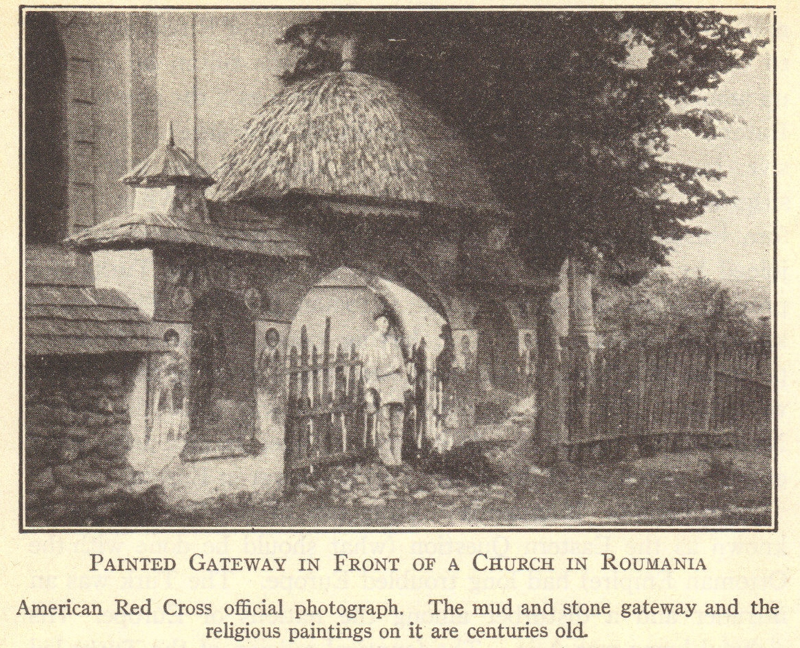 Painted Church Gateway In Romania