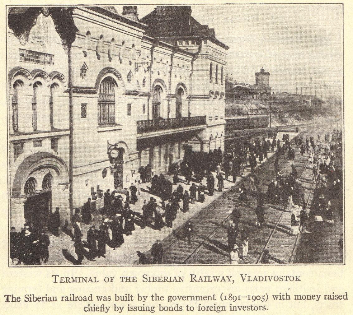 Trans Siberian Railroad Terminal In Vladivostok Russia