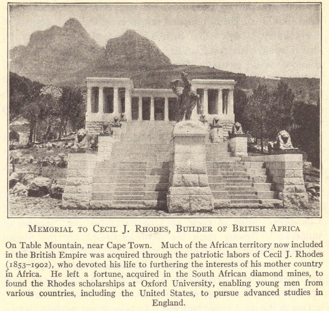 Cecil Rhodes Memorial At Table Mountain In Africa