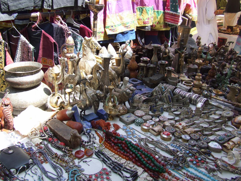 Bazaar In Kabul Afghanistan Student Handouts