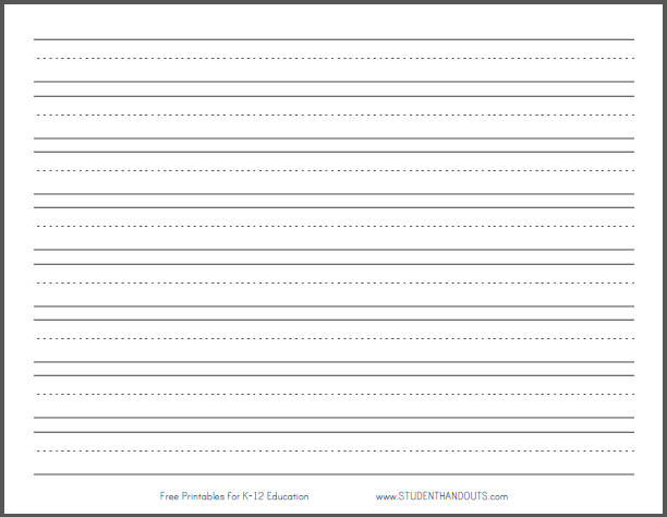 Writing Paper Printable - Ivoiregion