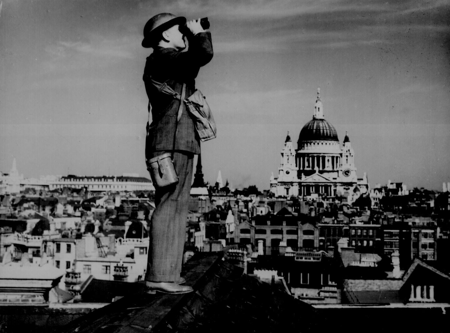 Aircraft Spotter In London Wwii