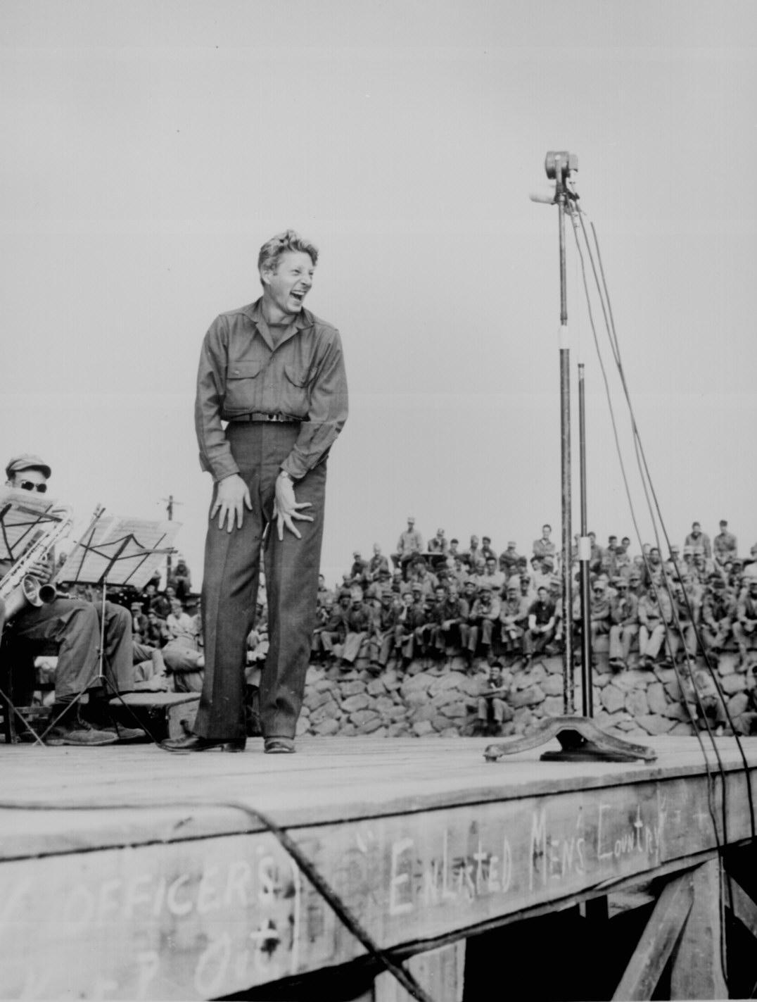 Danny Kaye Entertaining Troops During World War Ii
