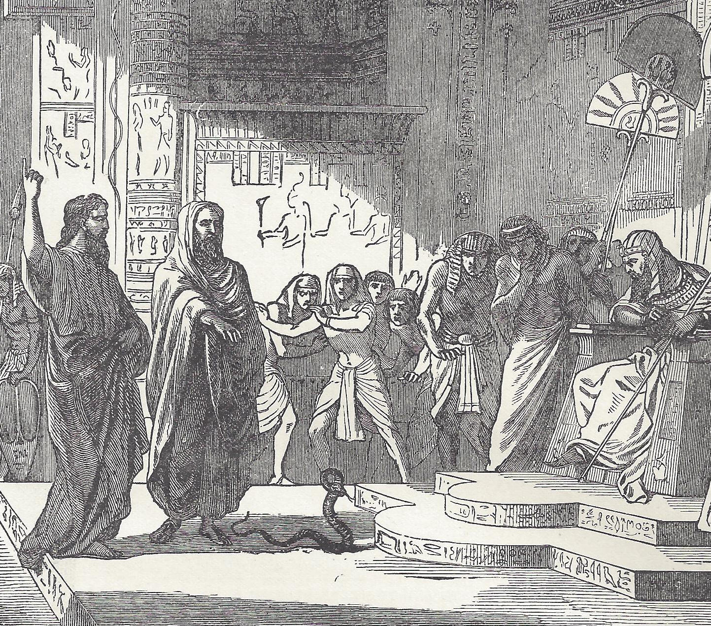 Moses Turns His Staff Into A Serpent