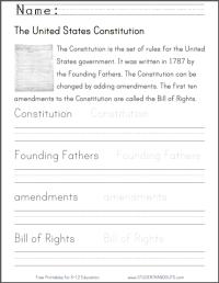 U.S. Constitution Handwriting