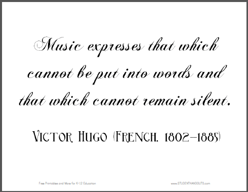 Click here to print this Victor Hugo quote: