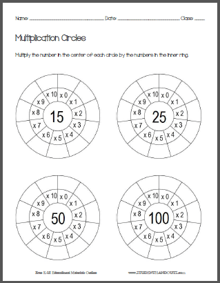 This worksheet has students multiply 15, 25, 50, and 100