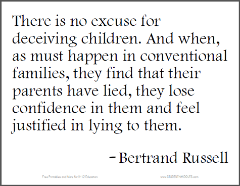 There is no excuse for deceiving children And when as